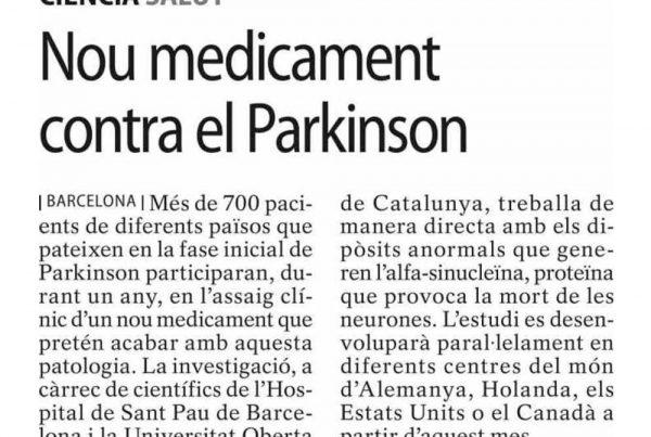 SEGRE - Nou medicament contra el Parkinson